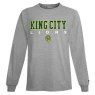 KCS Champion Unisex Long Sleeve T-Shirt (Design 1) - Light Steel (KCS-004-LS)