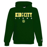 KCS Champion Unisex Double Dry Eco Pullover Hood (Design 2) - Dark Green (KCS-005-DG)