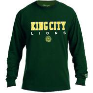 KCS Champion Unisex Long Sleeve T-Shirt (Design 2) - Dark Green (KCS-008-DG)