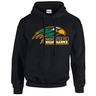 NPS Gildan Adult Heavy Blend 8 oz., 50/50 Hooded Sweatshirt - Black (NPS-023-BK)