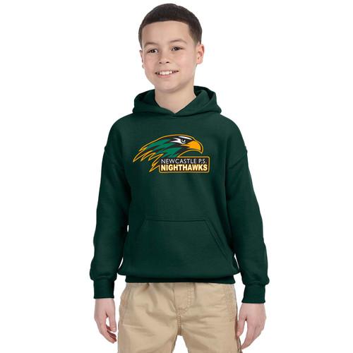 NPS Gildan Youth Heavy Blend 8 oz., 50/50 Hooded Sweatshirt - Black (NPS-323-FO)