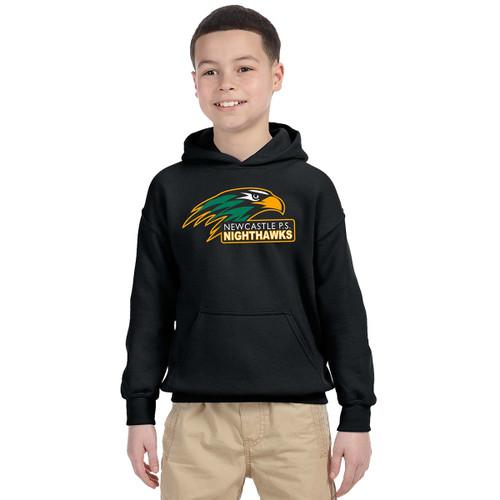 NPS Gildan Youth Heavy Blend 50/50 Hooded Sweatshirt - Black (NPS-323-BK)