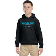 VEE Gildan Youth Heavy Blend Grad Hooded Sweatshirt - Black (VEE-314-BK)