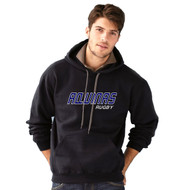 STA Gildan Men's Premium Ring Spun Fleece Hooded Sweatshirt - Black (STA-011-BK)