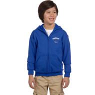 DAM Gildan Youth Heavy Blend Full-Zip Hooded Sweatshirt - Royal Blue (DAM-305-RO)