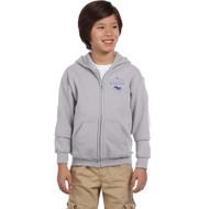 DAM Gildan Youth Heavy Blend Full-Zip Hooded Sweatshirt - Sport Grey (DAM-305-SG)