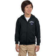 DAM Gildan Youth Heavy Blend Full-Zip Hooded Sweatshirt - Black (DAM-305-BK)