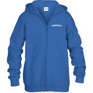 ALV Gildan Youth Heavy Blend Full-Zip Hooded Sweatshirt - Royal Blue (ALV-305-RO)