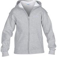 ALV Gildan Youth Heavy Blend Full-Zip Hooded Sweatshirt - Sport Grey (ALV-305-SG)