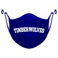 ALV Ninja Style Youth 3 Layer Reusable Face Masks (Grades 1-6) - Royal Blue (ALV-054-RO.NINJA3Y-BLA-LG)