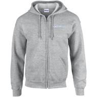 ALV Gildan Adult Heavy Blend Full-Zip Hooded Sweatshirt - Sport Grey (ALV-005-SG)