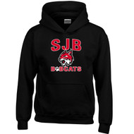 JDB Gildan Youth Heavy Blend Hooded Sweatshirt (Design 01) - Black (JDB-321-BK)