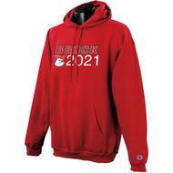 BRO Champion Powerblend Eco Fleece Grad Hoodie - Red (BRO-009-RE)