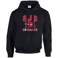 JDB Gildan Adult Heavy Blend Hooded Sweatshirt (Design 02) - Black (JDB-024-BK)