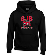 JDB Gildan Youth Heavy Blend Hooded Sweatshirt (Design 02) - Black (JDB-324-BK)