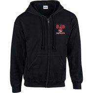 JDB Gildan Adult Heavy Blend Full-Zip Hooded Sweatshirt (Design 01) - Black (JDB-027-BK)