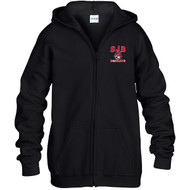 JDB Gildan Youth Heavy Blend Full-Zip Hooded Sweatshirt (Design 01) - Black (JDB-327-BK)