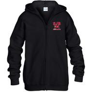 JDB Gildan Youth Heavy Blend Full-Zip Hooded Sweatshirt (Design 02) - Black (JDB-328-BK)