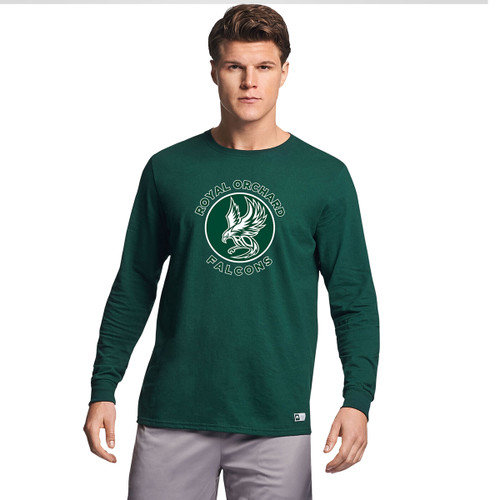 ROS Russell Men's Essential Long-⁠Sleeve T-⁠Shirt - Dark Green (ROS-113-DG)