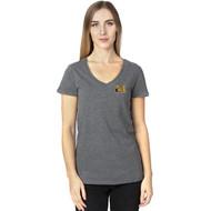 MAN Threadfast Apparel Ladies' Ultimate V-Neck T-Shirt - Charcoal Heather (MAN-205-CH)