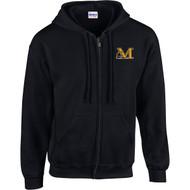 MAN Gildan Youth Heavy Blend Full-Zip Hooded Sweatshirt - Black (MAN-007-BK)