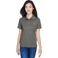 MAN Harriton Lady's Easy Blend Poly-Cotton Blend Polo - Charcoal Grey (MAN-208-CH)