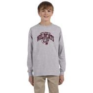 Maple Ridge Wildcats Youth Ultra Cotton Gildan Long Sleeve T-Shirt - Grey (MRW-006-GY)