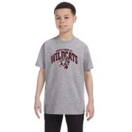 Maple Ridge Wildcats Youth Gildan Heavy Cotton T-shirt - Sport Grey (MRW-003-GY)