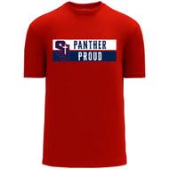 SJS Apparel Adult Short Sleeve Shirt - Red (SJS-028-RE)
