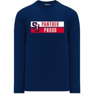 SJS Apparel Adult Long Sleeve Shirt - Navy (SJS-029-NY)