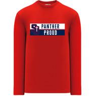 SJS Apparel Adult Long Sleeve Shirt - Red (SJS-029-RE)