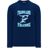 FCS Athletic Knit Adult Brand Long Sleeve Performance T-shirt - Navy Blue (FCS-004-NY)