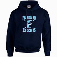 FCS Gildan Adult Heavy Blend Hooded Sweatshirt - Navy Blue (FCS-005-NY)