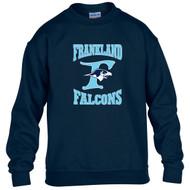 FCS Gildan Youth Heavy Blend Crewneck Sweatshirt - Navy Blue (FCS-306-NY)