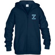 FCS Gildan Youth Heavy Blend Full-Zip Hooded Sweatshirt - Navy Blue (FCS-307-NY)