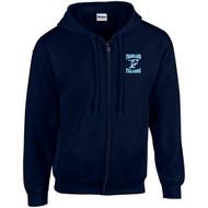 FCS Gildan Adult Heavy Blend Full-Zip Hooded Sweatshirt - Navy Blue (FCS-007-NY)