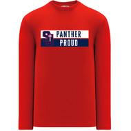 SJS Apparel Women's Long Sleeve Shirt - Red (SJS-229-RE)