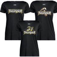 GBS Under Armour Women's Locker Short Sleeve T Shirt - Black (GBS-230-BK)