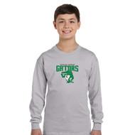 CGG Gildan Youth Heavy Cotton Long Sleeve 100% Cotton T-Shirt - Sport Grey