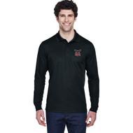 JRP Core 365 Men's Pinnacle Performance Long-Sleeve Piqué Polo - Black (JRP-117-BK)