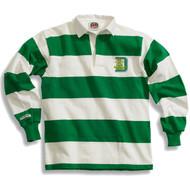 SDC Barbarian Adult Heavy-Weight Classic Rugby Shirt - Kelly Green/White (SDC-012-KE.BA-STK200)
