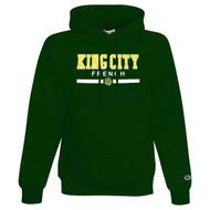 KCS Champion Adult Double Dry Eco Pullover Hooded Sweatshirt (Design 1) - Dark Green (KCS-014-DG)