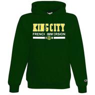 KCS Champion Adult Double Dry Eco Pullover Hooded Sweatshirt (Design 2) - Dark Green (KCS-015-DG)