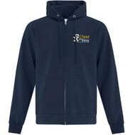 CTK ATC Men's Everyday Fleece Full Zip Hooded Sweatshirt (Design 1) - Navy (CTK-106-NY)