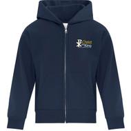 CTK ATC Youth Everyday Fleece Full Zip Hooded Sweatshirt (Design 1) - Navy (CTK-306-NY)