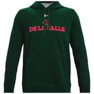 """Under Armour Men's Green """"De La Salle"""" Spirit Wear Fleece Hoodie (DEL-121-FO)"""