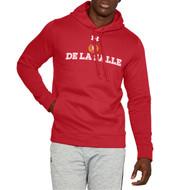 """Under Armour Men's Red """"De La Salle"""" Spirit Wear Fleece Hoodie - Red (DEL-121-RE)"""