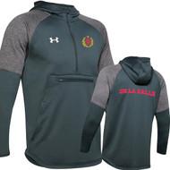 """DEL Under Armour Men's Grey Zip """"De La Salle"""" Spirit Wear Tech Fleece Hoodie - Steal Grey (DEL-122-ST)"""