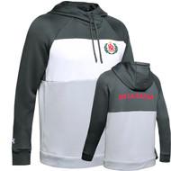 "DEL Under Armour Ladies Colour Block Grey ""De La Salle"" Spirit Wear Fleece Hoodie - Steal Grey (DEL-222-ST)"