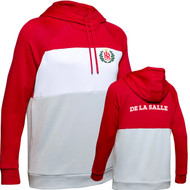 "DEL Under Armour Ladies Colour Block Red ""De La Salle"" Spirit Wear Fleece Hoodie - Red (DEL-222-RE)"